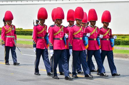 BANGKOK THAILAND - APRIL 9 : Military parade on April 9, 2012  in The Royal Funeral of HRH Princess Bejaratana Rajasuda of Thailand Stock Photo - 13140787