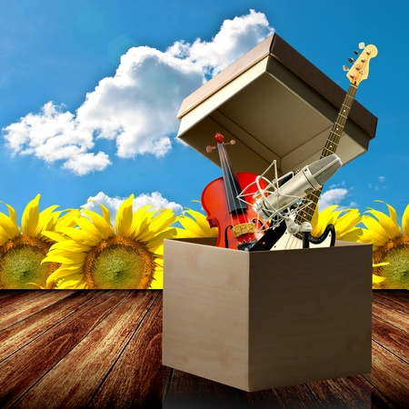 Open up your music talent box Stock Photo - 13234802