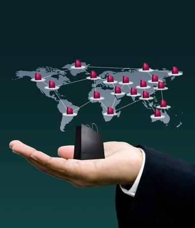 Network marketing, Technology concept photo