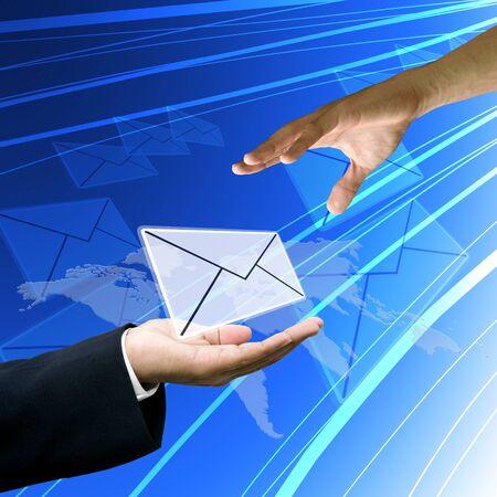 tele communication: Customer service send mail to customer