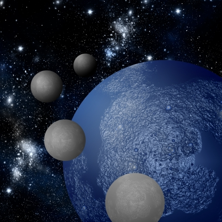 to revolve: The revolve of moon around planet