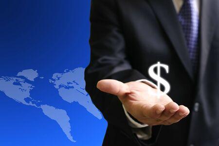 Krijg het verdienen van de wereldwijde maketing Stockfoto