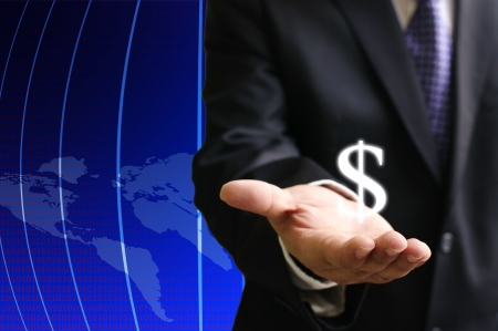 investor: Investor show the earning of globalization Stock Photo