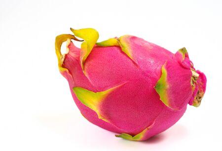 brit: Dragon fruit isolted on white background, Hylocercus undatus  Haw  Brit    Rose  Stock Photo