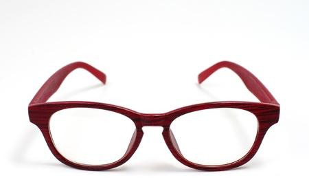 白い背景で隔離のメガネ 写真素材