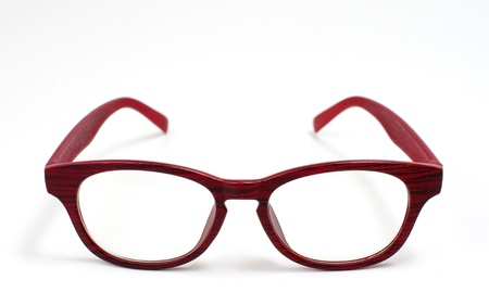 eye red: Glasses isolated on white background