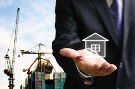 Builder offer the house for living Stock Photo - 14399343