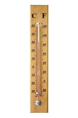 Thermometer isolated on white background photo