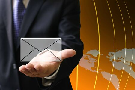 Contact us, Email technology concept photo