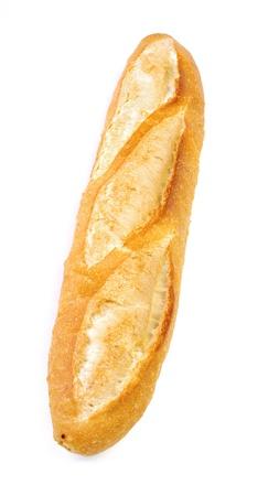 lang brood geïsoleerd op witte achtergrond Stockfoto