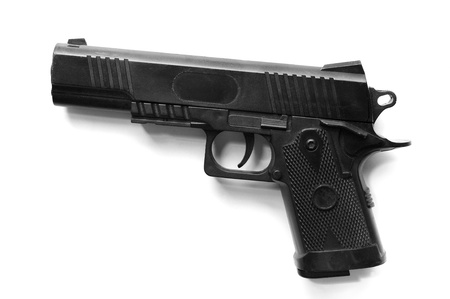 Plastic gun, Toy isolated Stock Photo - 14886621