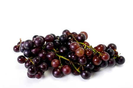 Grape on white background, Fruit isolated photo