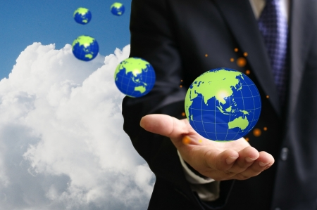 god s hand: God of investor control the global economy Stock Photo