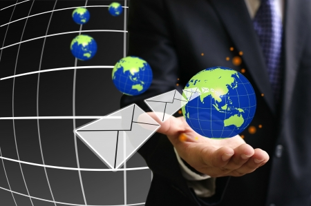 Communication in your hand, Globalization concept Stock Photo - 15328915