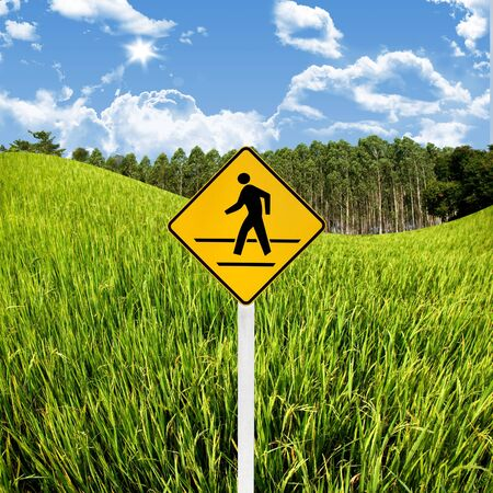 Crossroad sign with landscape background, Travel in countryside concept Stock Photo - 15407832