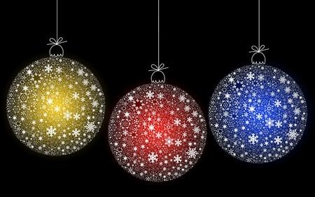 Kleurrijke Kerst bal opknoping ingericht