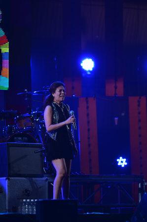 nontaburi: NONTABURI, THAILAND  - OCTOBER 4 : Wiyada Komalakul singer singing in Grammy Wonderland concert on 4 October 2012 at IMPACT Challenger, Nontaburi, Thailand Editorial