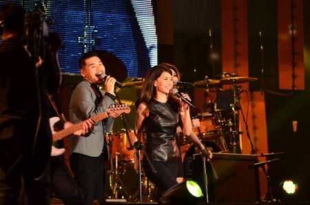 nontaburi: NONTABURI, THAILAND  - OCTOBER 4 : Nantida Kaewbuasai singer singing in Grammy Wonderland concert on 4 October 2012 at IMPACT Challenger, Nontaburi, Thailand