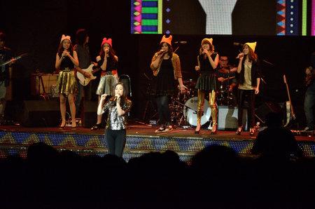 tk: BANGKOK, THAILAND � NOV 18 : Bo TK Christian singer singing and show in Crossover Live  Concert on 18 November 2012 at Bangkok Christian College, Bangkok, Thailand
