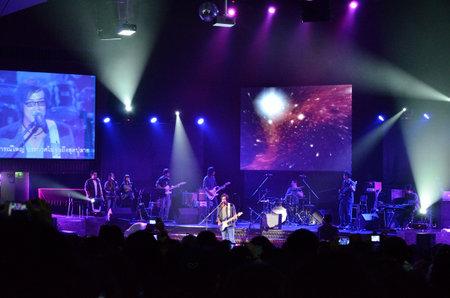 BANGKOK, THAILAND – NOV 18 : Joe  Nuvo or Jirayut Wattanasin Christian singer singing and show in Crossover Live  Concert on 18 November 2012 at Bangkok Christian College, Bangkok, Thailand Stock Photo - 16376565