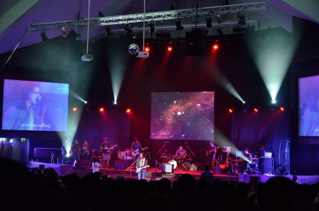BANGKOK, THAILAND � NOV 18 : Joe  Nuvo or Jirayut Wattanasin Christian singer singing and show in Crossover Live  Concert on 18 November 2012 at Bangkok Christian College, Bangkok, Thailand Stock Photo - 16376572
