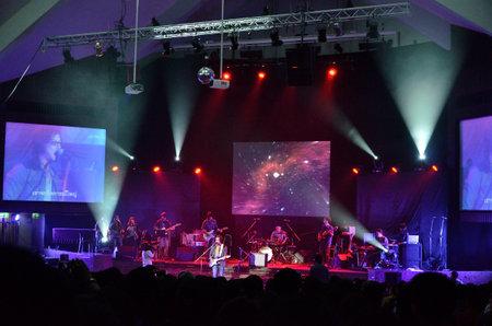BANGKOK, THAILAND – NOV 18 : Joe  Nuvo or Jirayut Wattanasin Christian singer singing and show in Crossover Live  Concert on 18 November 2012 at Bangkok Christian College, Bangkok, Thailand Stock Photo - 16376572