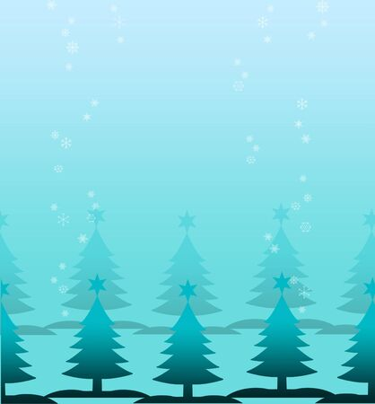 Christmas tree with snow background Stock Photo - 16476490