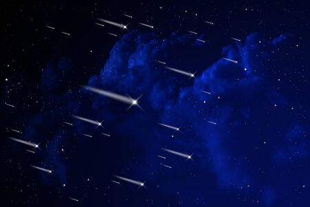 Meteor shower in the orion, Astronomy concept photo