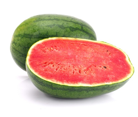 Watermelon isolated on white background, Studio shot photo
