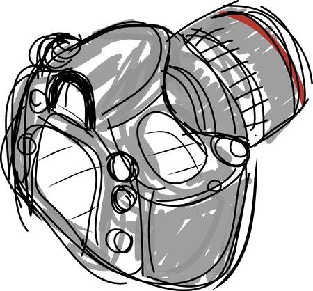 Digital camera sketch vector