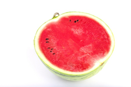 Sweet watermelon from japan isolated on white background, Studio shot photo