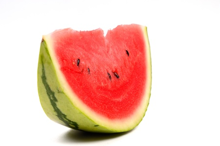 Watermelon from japan isolated on white background, Studio shot photo
