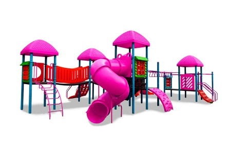 jungle gym:  Children s playground isolated