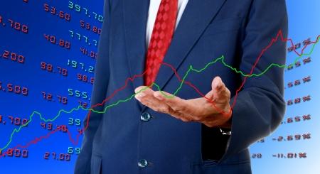 Senior businessman analyst stock exchange data graph, Stock exchange analyst concept photo