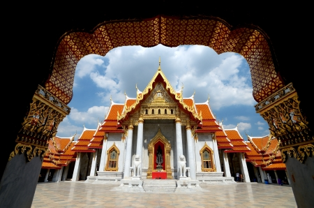 Wat Benchamabophit, The marble temple of Buddhism in Bangkok, Thailand photo