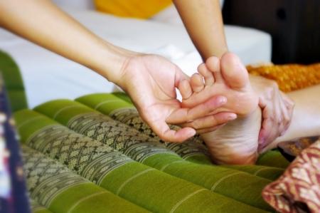 thai massage: Foot massage, Reflexology concept