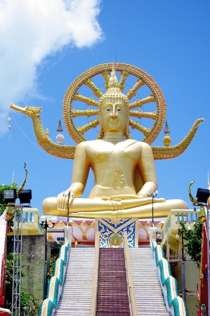 Big Buddha on the top hill at Samui island, Thailand photo