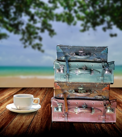 Rest and drink coffee with nice sea views  photo