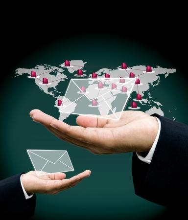 Send order with email concept Standard-Bild