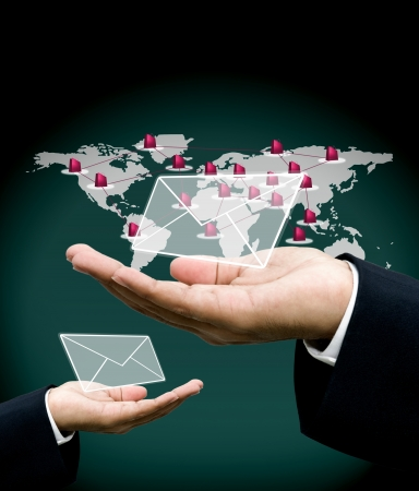 send mail: Send order with email concept Stock Photo
