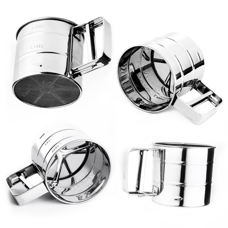 Sifter set on white background  photo