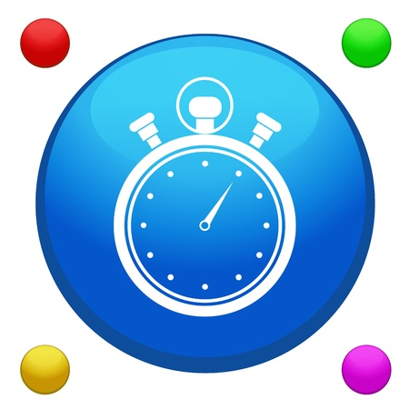 Stopwatch icon button vector with 4 color background included  Vector
