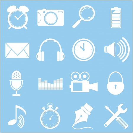 Smart phone app icon set - vector icons  Vector