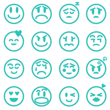 disappoint: Emotion icons set, Vector illustration EPS version 8