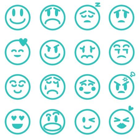 annoying: Emotion icons set, Vector illustration EPS version 8