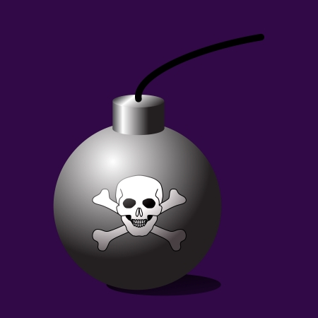 terribly: Death bomb, Vector illustration Illustration