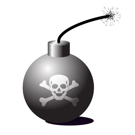 Bomb vector illustration Stock Vector - 22175377