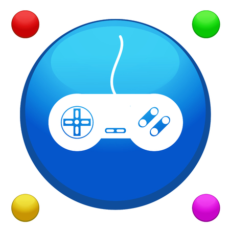Game joystick icon button Vector
