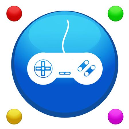 joy pad: Game joystick icon button Illustration