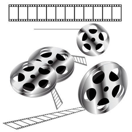 Movie films spool with film  Vector